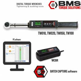 BMS TAW100 AUDITOR elektronikus nyomaték-forgásszög kulcs